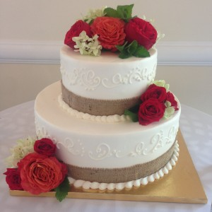 September Wedding Cake